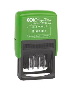 Colop Printer S 260 L Green Line Fertigtext Datumstempel - 45x24 mm