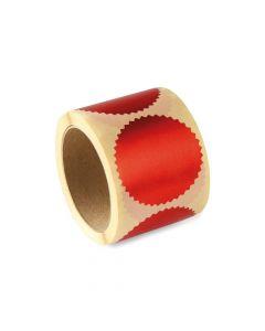 Haftetiketten für Prägepressen - Rot