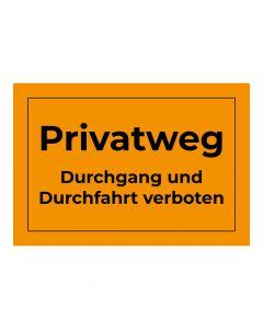 Fertigschild - Privatweg
