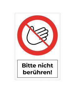 Fertigschild - Bitte nicht berühren