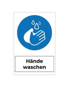 Fertigschild - Hände waschen