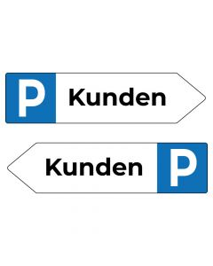 Fertigschild - Kunden Parkplatzschild