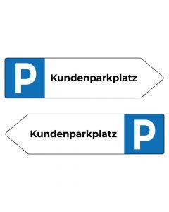 Fertigschild - Kundenparkplatz