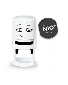 NIO Stempel mit Farbkissen und Gutschein - FANCY GREY