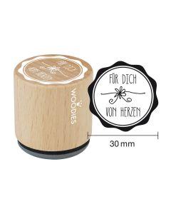Woodies Motivstempel - Für Dich von Herzen
