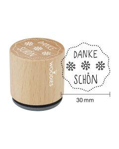 Woodies Motivstempel - Danke schön