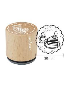 Woodies Motivstempel - Kaffee & Kuchen