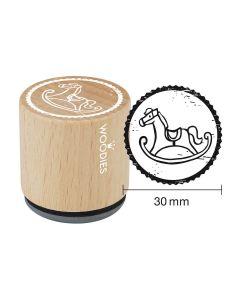 Woodies Motivstempel - Schaukelpferd