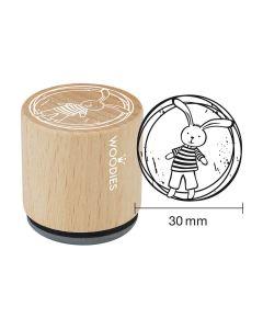Woodies Motivstempel - Hase