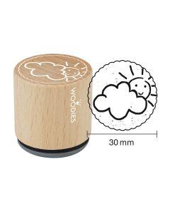 Woodies Motivstempel - Wolkig