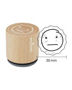 Woodies Motivstempel - Smiley - Mittelmäßig