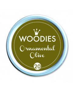 Woodies Farbkissen - Ornamental Olive