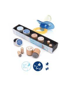Woodies Rubber Stamp Kit - Baby Boy