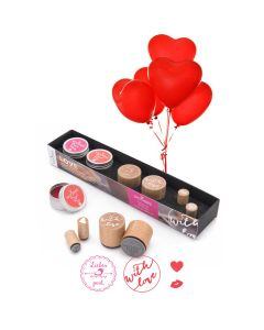Woodies Rubber Stamp Kit - Love