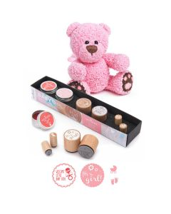 Woodies Rubber Stamp Kit - Baby Girl