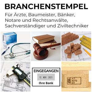 Stempel für Ärzte, Baumeister, Bänker, Notare und Rechtsanwälte, Sachverständiger, Tierärzte und Ziviltechniker