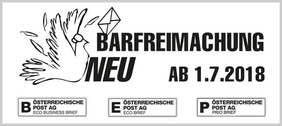 Post Stempel - Barfreimachung