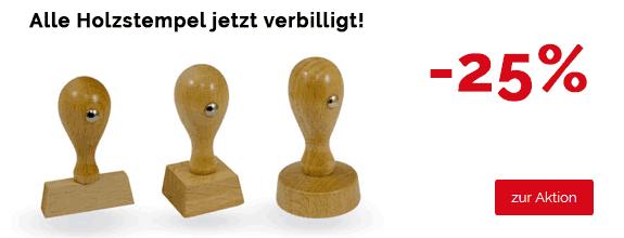 Holzstempel-Aktions-Banner